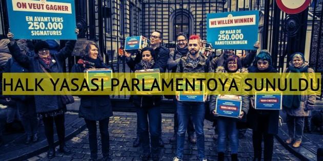Belçika'da ilk kez halk yasası parlementoya sunuldu