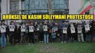 """ABD'nin Brüksel Büyükelçiliği önünde """"Süleymani"""" protestosu"""