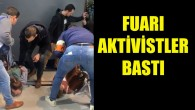 Brüksel Otomobil Fuarı'nı aktivistler bastı