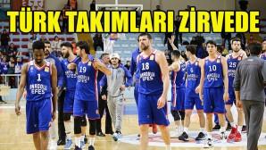 Erkek basketbolunda Türk takımları Avrupa'da zirvede