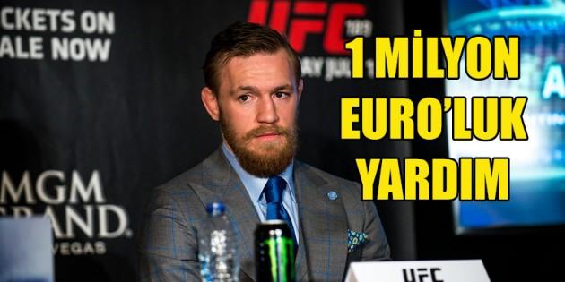 McGregor'dan 1 milyon euro'luk yardım