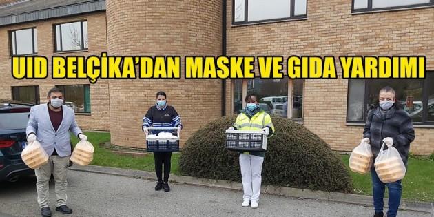 UID Belçika'dan maske ve gıda yardımı