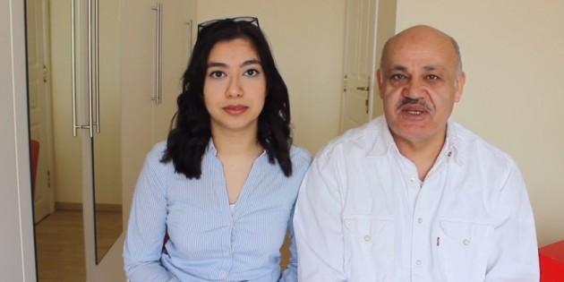 Baba kız, sağlık personeline yardım amaçlı kampanya başlattı