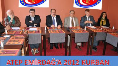 ATEP EMİRDAĞ'A 2012KURBAN KAMPANYASI BAŞLATTI