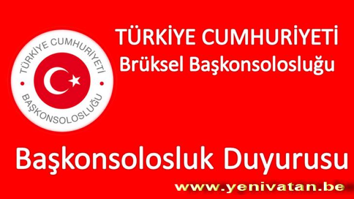 BRÜKSEL BAŞKONSOLOSLUĞUNDA 'EKSPRES GİŞE' HİZMETİ BAŞLIYOR