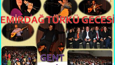 GENT'TE EMİRDAĞ TÜRKÜ GECESİ