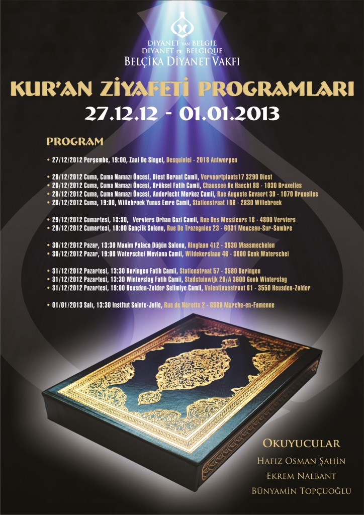 kuran ziyafeti 2012 PROGRAM