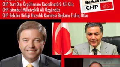 CHP BELÇİKA'DA HALKLA BULUŞUYOR