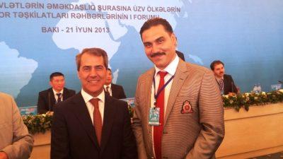 TÜMSİAD BAŞKANI HAMARAT AZERBAYCAN'DA