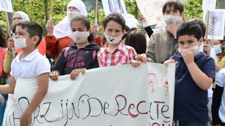 ANAOKULU ÖĞRENCİLERİNE YAPILAN CİNSEL TACİZ PROTESTO EDİLDİ