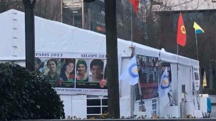 BRÜKSEL'İN MERKEZİNE KURULAN PKK ÇADIRINA TEPKİ