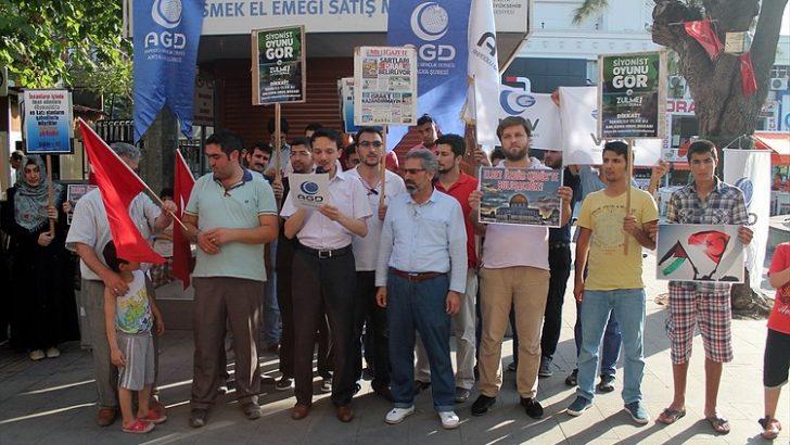 TÜRKİYE-İSRAİL İLİŞKİLERİ PROTESTO EDİLDİ