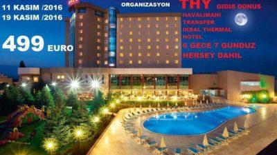 Jasmin Organizasyon ile termal otelde tatil fırsatı