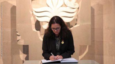 Belçika Senato Başkanı sözde Ermeni Soykırım Anıtı'nı ziyaret etti