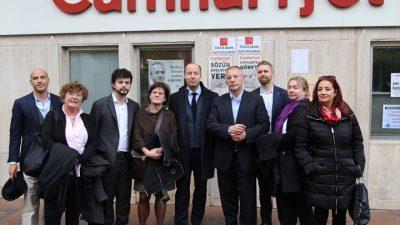 Avrupalı parlamenterlerden, Cumhuriyet gazetesine ziyaret