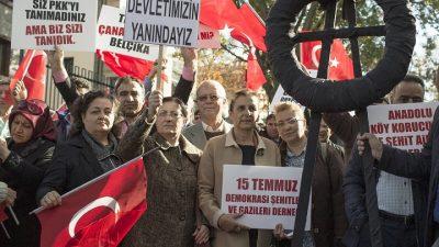 Türkiye'de şehit aileleri ile gaziler Fransa'yı protesto etti
