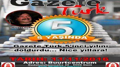 Gazetetürk 5. yılını kutluyor