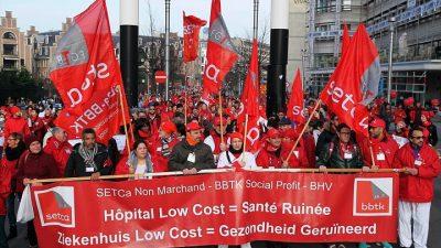 Sağlık sektörü çalışanları sokağa döküldü