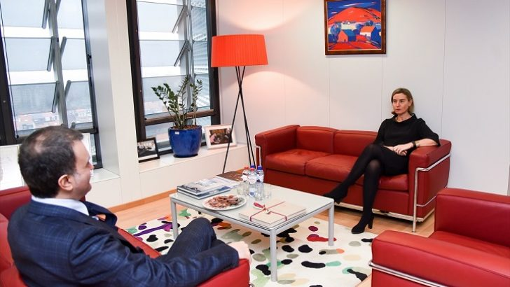 AB Bakanı Çelik Brüksel'de bir dizi temaslarda bulundu