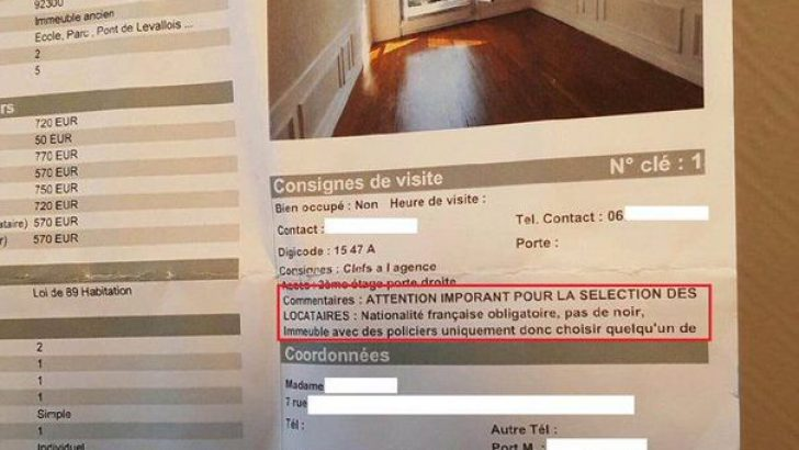 Fransa'da 'ırkçı' emlak ilanı
