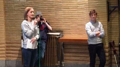 Gent şehrinde öğrencilerden hasta çocuklara destek