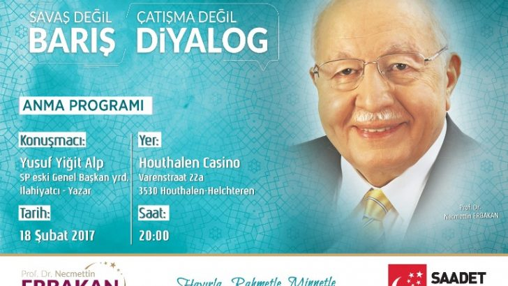 Saadet Partisi Belçika'dan Erbakan için anma programı