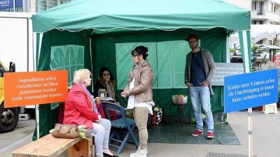 Çocukları ellerinden alınan aileler, AB kurumları yakınında çadır kurdu