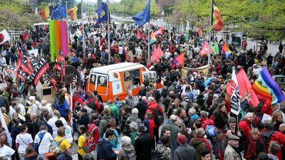 Brüksel'de kemer sıkma politikası protesto edildi