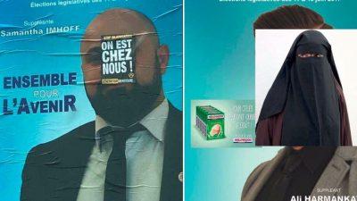"""Fransa'da """"Eşitkik ve Adalet Partisi"""" afişlerine ırkçı saldırı"""