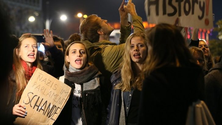 Almanya'da Nazi yanlısı AfD'ye protesto