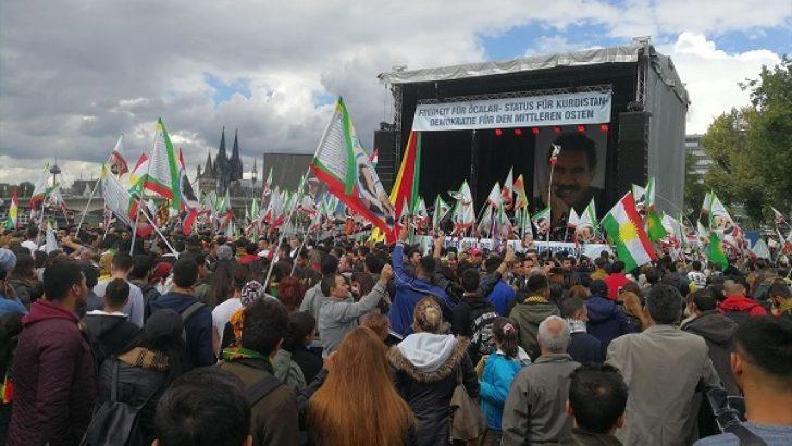 """Almanya'da """"Kürt festivali"""" adı altında PKK propagandası"""