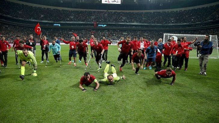 Ampute Milli Futbol Takımı engel tanımadı