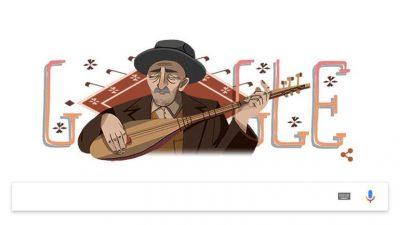 Google Aşık Veysel'e özel doodle yaptı