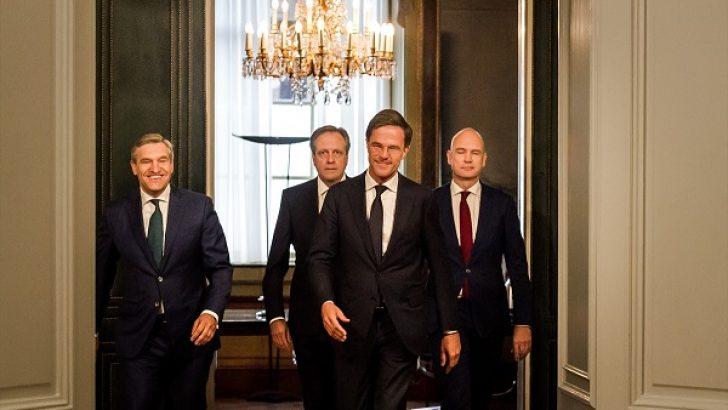 Hollanda'da 4 partili koalisyon hükümeti