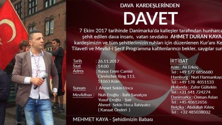 Danimarka'da öldürülen Ahmet Kaya için etkinlik düzenleniyor