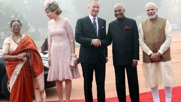 Kral Philippe ile Kraliçe Mathilde Hindistan'da