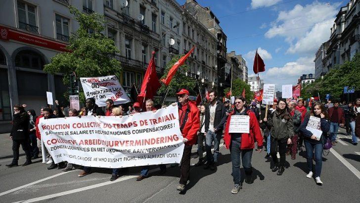 Brüksel'de 1 Mayıs yürüyüşü