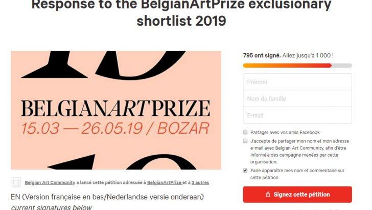 Belçika Sanat Ödülü adayları yarışmadan çekildi
