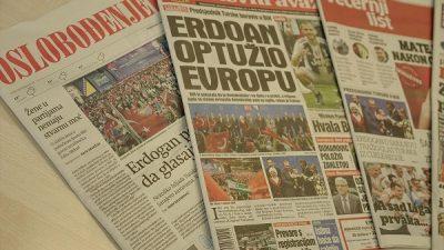 Cumhurbaşkanı Erdoğan'ın Bosna Hersek ziyareti manşetlerde