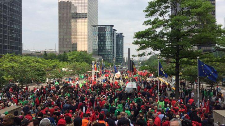 Belçika'da emeklilik protestosu
