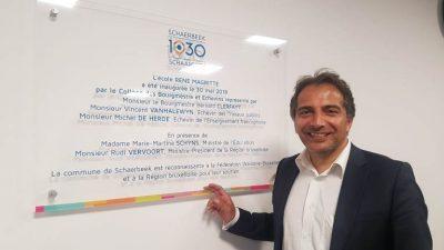 Köse, Schaerbeek'e yeni açılan modern okulu anlattı