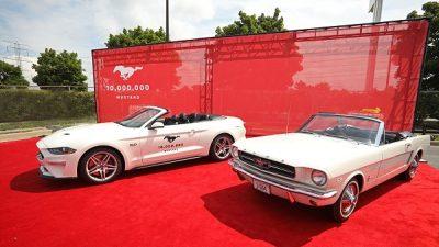 10 milyonuncu Ford Mustang banttan indi