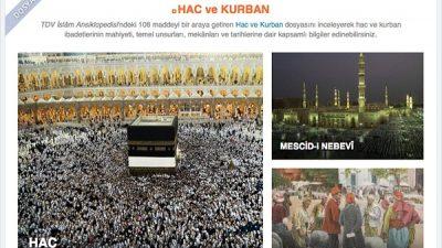 """TDV İslam Ansiklopedisi'nden """"Hac ve Kurban"""" dosyası"""