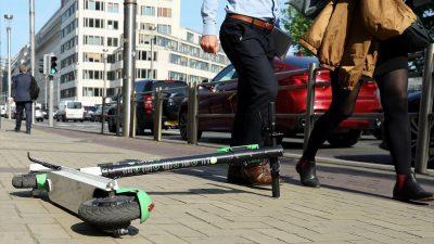 Brüksel'de elektrikli scooter çılgınlığı