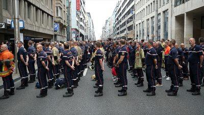 Brüksel'de itfaiyeci grevi