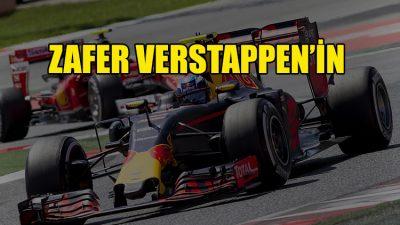 Yağmur altında kazanan Verstappen