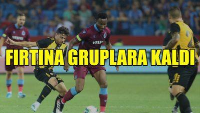 Trabzonspor, gruplara kaldı