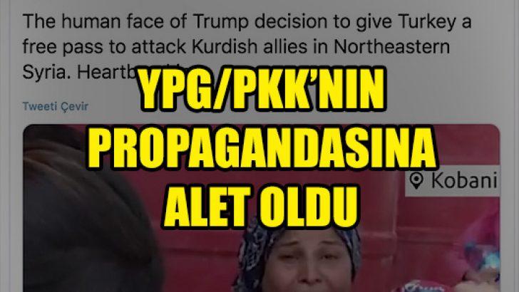 İngiliz vekil YPG/PKK'nın kara propagandasına alet oldu