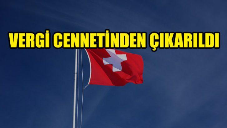 """AB, İsviçre'yi """"vergi cenneti""""nden çıkardı"""