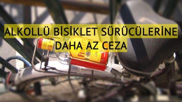 Alkollü bisiklet kullananlara daha az ceza önerisi